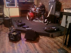Set up for the NYE gig. Merchant's last night ever! Come say bye!