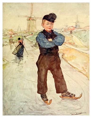 023-Un muchacho campesino de Veere patinando-Holland (1904)- Nico Jungman