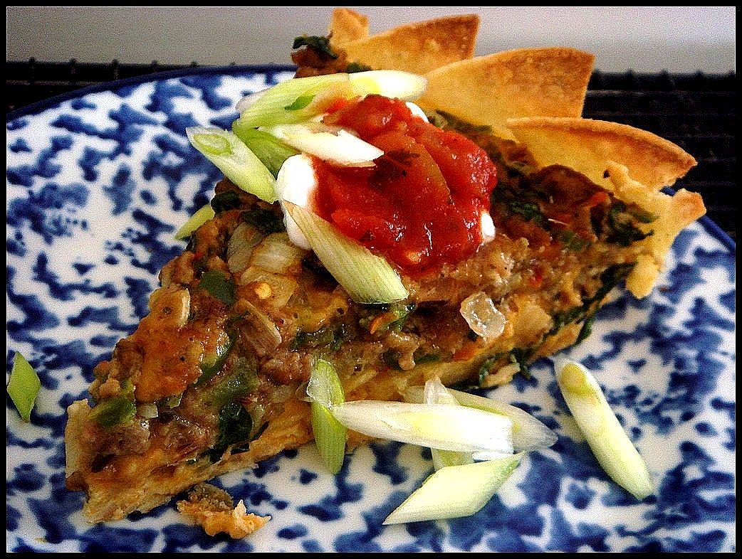 Mexican Tortilla Quiche.