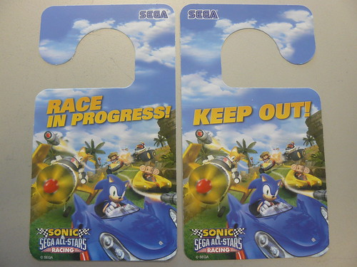 Sonic & SEGA All-Stars Door Hanger