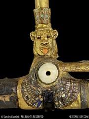 The god Bes on King Tut's Chariot (Sandro Vannini) Tags: art kingtut egypt nubians bes beliefs egyptians goldenchariot egyptianmuseumcairo asiatics heritagekey sandrovannini ceremonialchariots statechariot