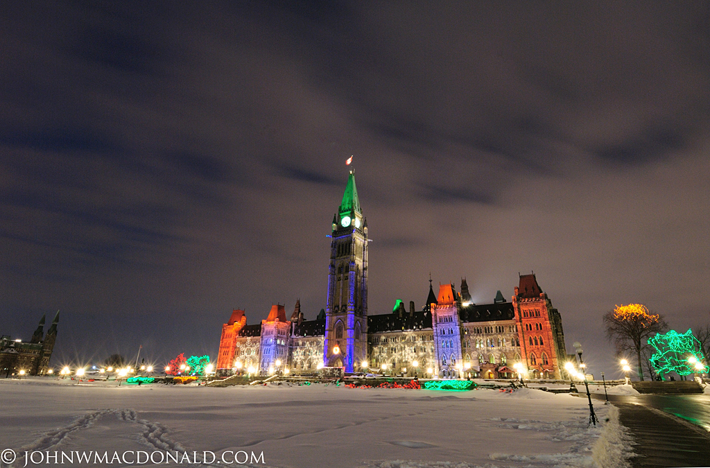 Parliament Hill Christmas Lights - 2007
