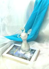 جزيره سرگرداني (Saeedeh (Sormeh)) Tags: blue white angel pray جزيره دعا سفيد آبي سرگرداني فرشته سيمين دانشور