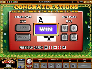 free Celtic Crown gamble feature