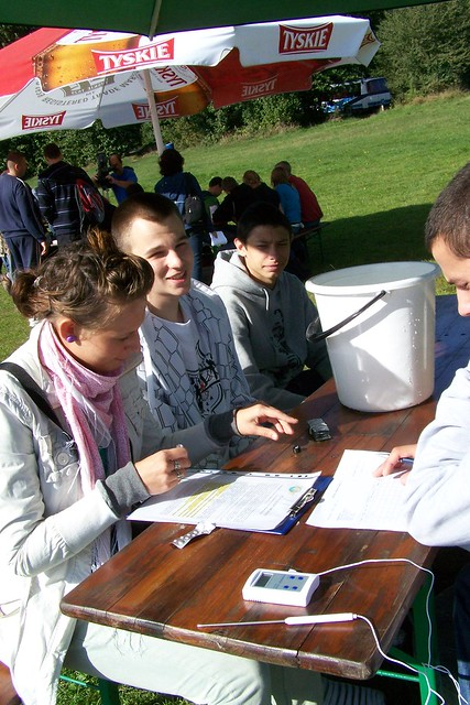 Students in Poland test local water sources during World Water Monitoring Day with Animex, a subsidiary of Smithfield Foods