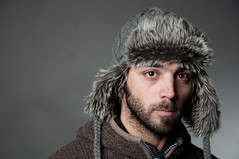 JP 4 (pyrowill) Tags: uk cold hat hair studio grey furry nikon flash jp hood strobe d90 strobist sb900