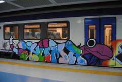 Graffiti Trenitalia. (andrescolmenares) Tags: italy graffiti italia sicily palermo sicilia trenitalia andrescolmenares
