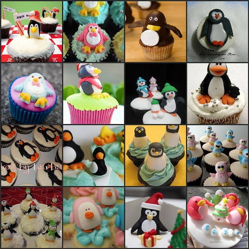Penguin Cupcakes by *kimmie*.
