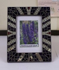 Mirror Tile Mosaic Picture Frame (Sensation Art Gallery) Tags: mosaic pictureframe mirrortiles silvermirrortiles art artwork symmetry symmetrical