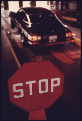 Stop Sign Where Motorists Halt Their Vehicles ...