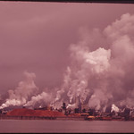 Intense Industrial Concentration Causes Visible Pollution