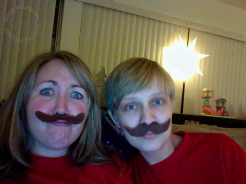 who are those mustachioed Chuck partiers!?