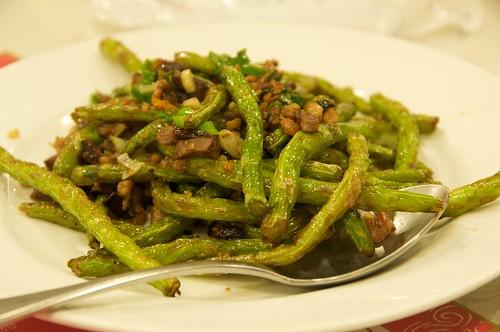 淞園飯館 乾煸四季豆