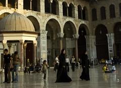At Umayyad Mosque Damascus