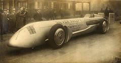 Sunbeam Silver Bullet (Mike Ashton) Tags: car transport archive racing sunbeam silverbullet wolverhampton landspeedrecord hisory