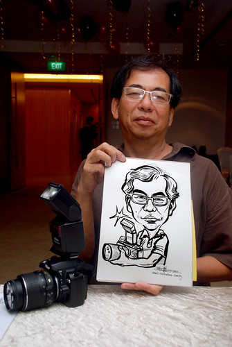 caricature live sketching for birthday party 220110 - 5