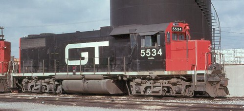 The Grand Trunk Western Elsdon Yard locomotive terminal. Chicago Illinois. 1977. by Eddie from Chicago