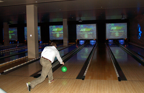 Minuteman President Chris Fox Thowing Another Gutter Ball