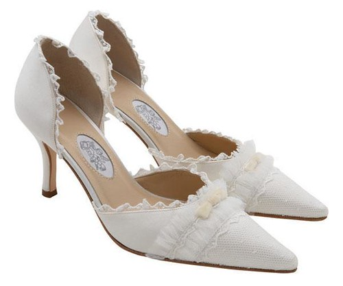 Designer Bridal Shoes lace by Diane Hassall