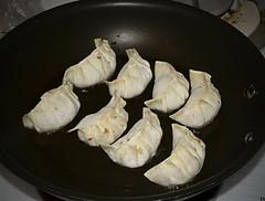 gyoza pork cabbage cooking