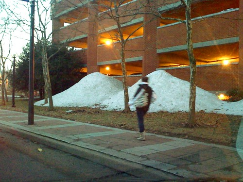 Piles of Snow at Wheaton Metro