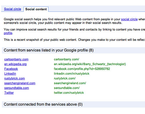 Google Social Search Content