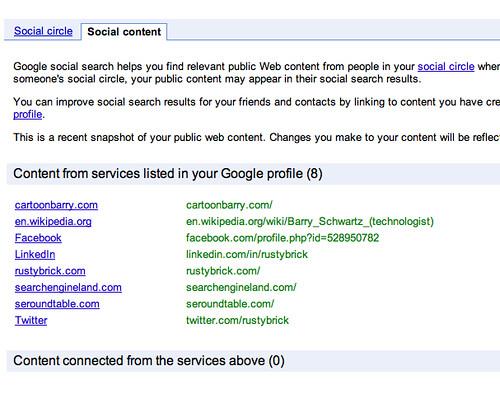 Google Social Search Content