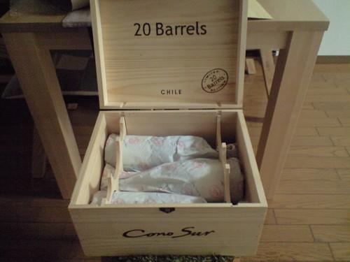 ワイン6本、木箱