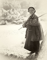 Bhutanese Farm Woman (susani2008) Tags: woman sepia bhutan farm january2010entrysoulwoman
