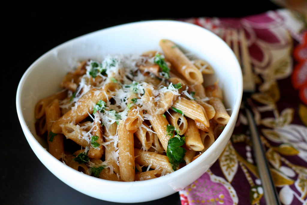 Caramelized Onion & Shiitake Pasta