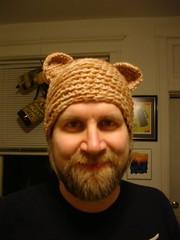 Fuzzy in Bear Hat