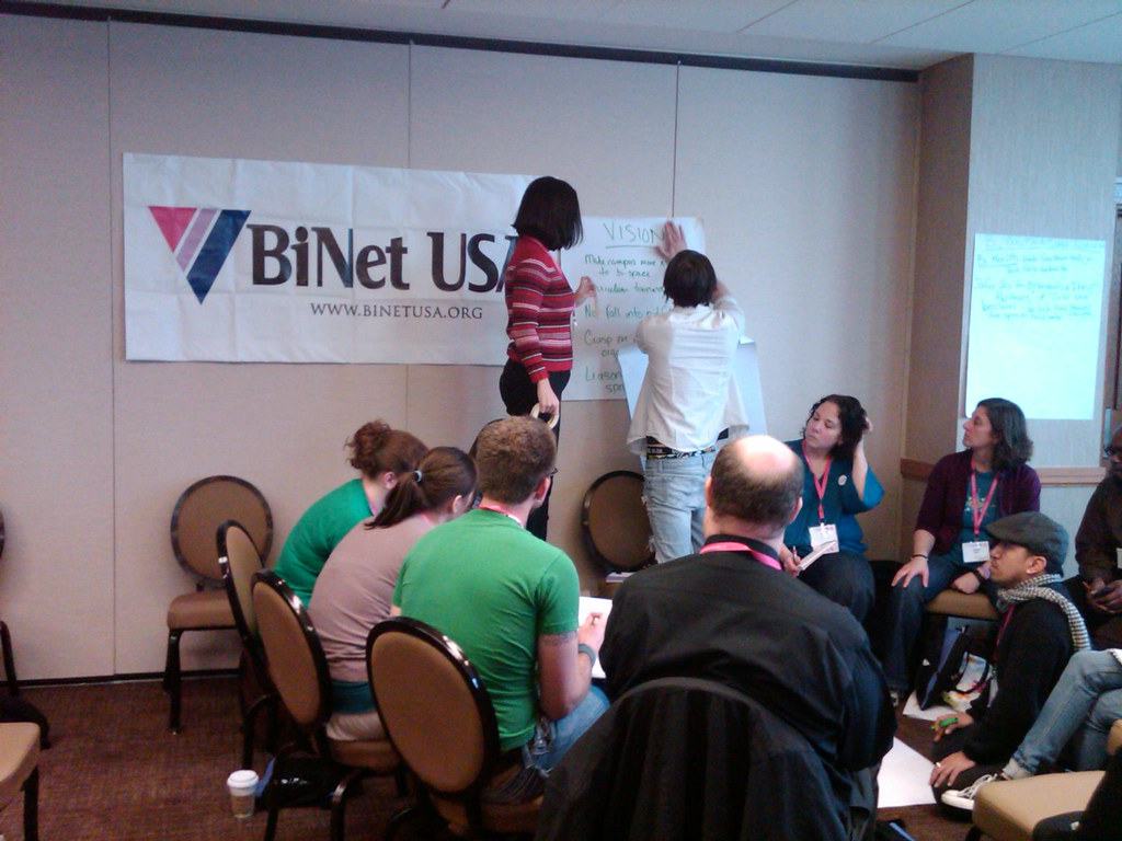 Discussing where our Community(s) want to go in the future during the Bisexual, Fluid, Pansexual and Queer-identified Organizing Institute at Creating Change in Dallas TX 2010