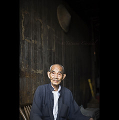 Daxu old man - China ( Tatiana Cardeal) Tags: china old travel men digital rural ancient asia village chinese  2009  guangxi  daxu