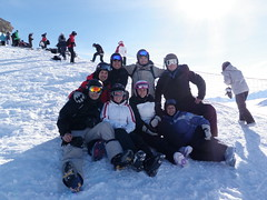 Group shot up at the lake (jvbates) Tags: snowboarding valcenis stuartross nataliewhite jamesbates sarahross chrisdecornet stevewilburn franceswilburn geoffchandler