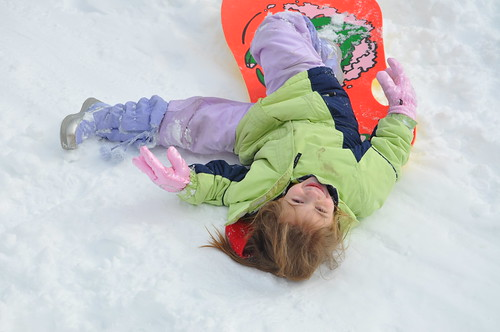 Alana sledding