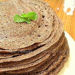 Valarmathi's Ragi Flour & Urad Dosa