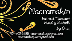 Macramakin' (Macramaking- Natural Macrame Plant Hangers) Tags: plants mountains kitchen vintage idea beads spring pretty natural herbs handmade unique decorative cottage creative northcarolina funky deck gift porch shelby chic birthdaygift weavers groovy weddinggift knots memento sunroom beachhouse hemp detailed keepsake christmasgift hangingbasket shabby artscrafts jute containergardening macram planthanger mothersdaygifts macramakin macramaking
