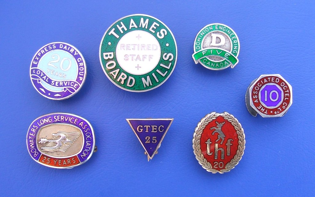 Long Service award enamel badges