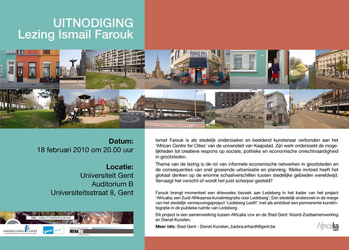 Invite: Lecture Ismail Farouk - Ghent University