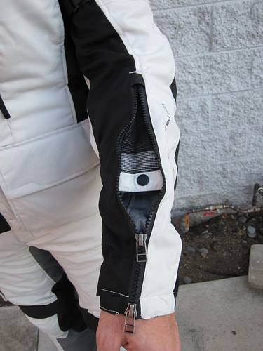 My favorite feature of SAND jacket - two way sleeve zippers that double as vents