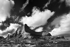 Buttes (David Kingham) Tags: sky blackandwhite clouds landscape colorado buttes pawnee pawneenationalgrasslands