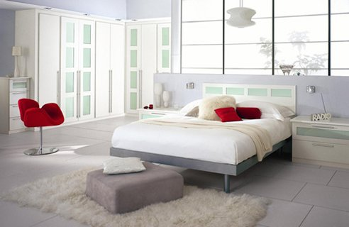 Alloy interior color design romantic bedroom