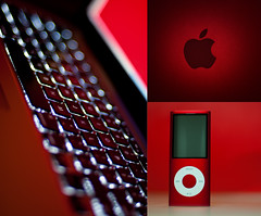 I   APPLE (michaeljosh) Tags: red love apple mac keyboard diptych triptych technology ipod explore fanboy mp3player frontpage gadgets techie nikkor50mmf14d backlitkeyboard flickrpin project365 macbookpro productred techguy nikond90 iapple michaeljosh