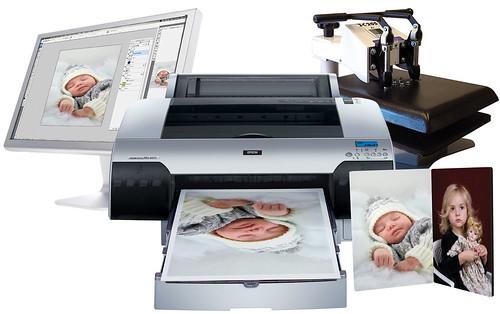 ordenador, Impresora de Sublimacion, software, productos promocionales, panales de fotos,