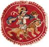Medallion with man riding lion 5th-6thc Egypt (julianna.lees) Tags: ancient silk shroud textiles sassanian doubleheaded sassanid suaire