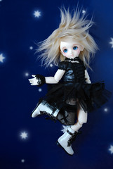 Touching the stars (Kyane) Tags: sky night star noche doll witch cielo bjd resin dollfie volks estrella mueca bruja nagisa demetria suzuna demiana
