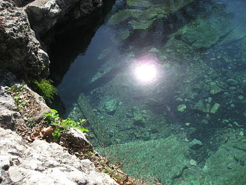 light in the spring water