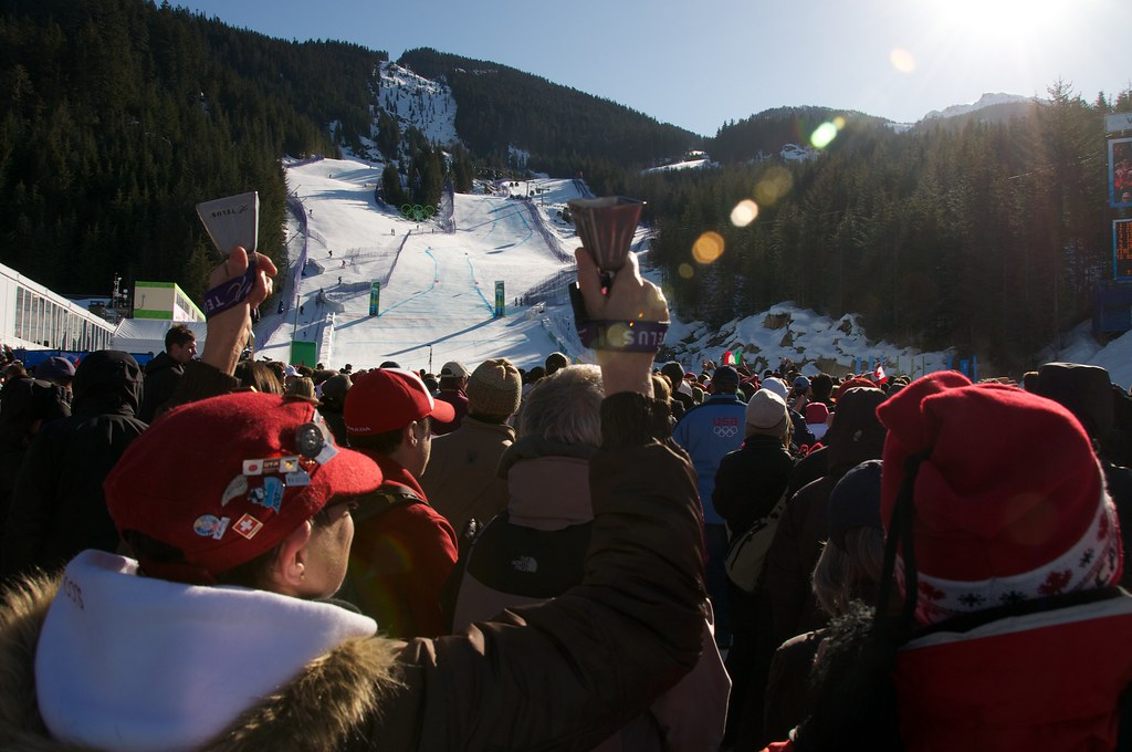 Cowbell at Women's Super G at Whistler Creekside