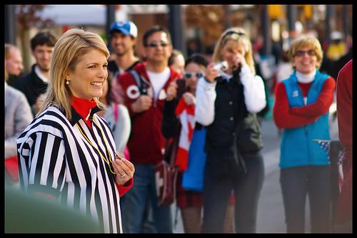 Tamara Taggart, street hockey ref
