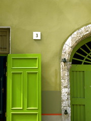 Green Times Three (Musical Mint) Tags: door colour green tallinn estonia bright doorway archway greendoor greenwall number3 musicalmint